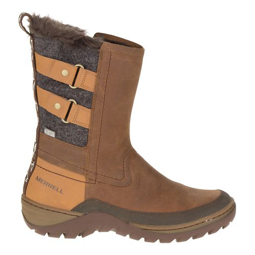 Womens Merrell Sylva Mid Buckle Waterproof Casual Shoe - Merrell Tan 9.5