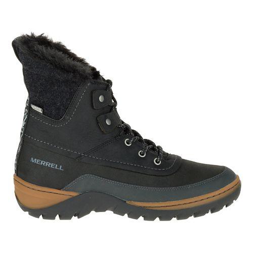 Womens Merrell Sylva Mid Lace Waterproof Casual Shoe - Black 9