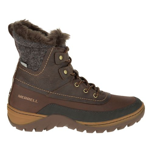 Womens Merrell Sylva Mid Lace Waterproof Casual Shoe - Potting Soil 8
