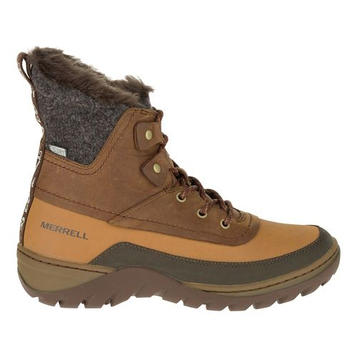 Womens Merrell Sylva Mid Lace Waterproof Casual Shoe - Merrell Tan 10