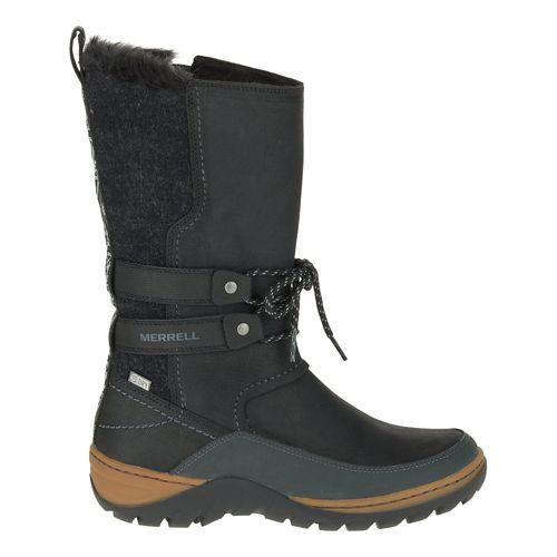 Womens Merrell Sylva Tall Waterproof Casual Shoe - Black 5