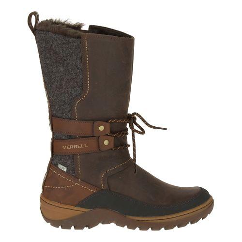 Womens Merrell Sylva Tall Waterproof Casual Shoe - Potting Soil 5
