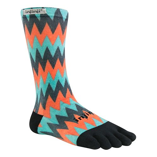 Injinji RUN Lightweight Crew CoolMax Socks - Surge L