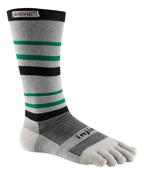 Injinji RUN Lightweight Crew CoolMax Socks - Emerald L