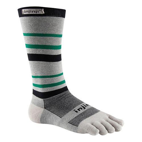 Injinji RUN Lightweight Crew CoolMax Socks - Emerald L