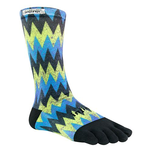 Injinji RUN Lightweight Crew CoolMax Socks - Sonic M