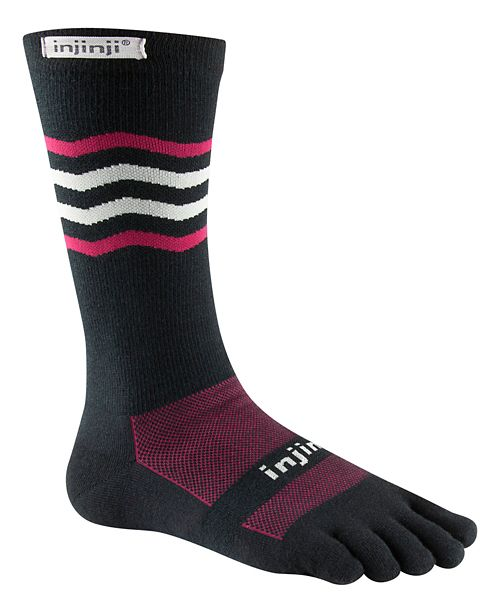 Injinji RUN Lightweight Crew CoolMax Socks - Cherry L