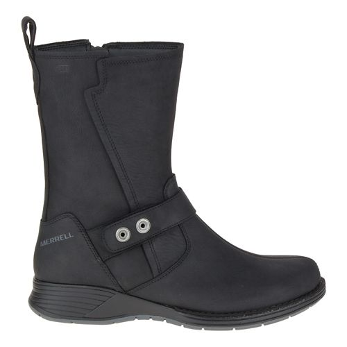 Womens Merrell Travvy Mid Waterproof Casual Shoe - Black 8.5