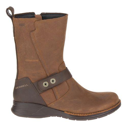 Womens Merrell Travvy Mid Waterproof Casual Shoe - Merrell Tan 8.5