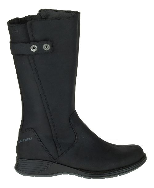 Womens Merrell Travvy Tall Waterproof Casual Shoe - Black 6