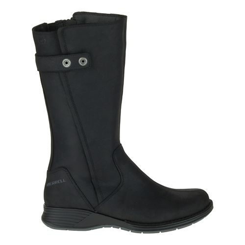 Womens Merrell Travvy Tall Waterproof Casual Shoe - Black 6.5