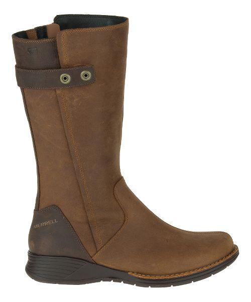 Womens Merrell Travvy Tall Waterproof Casual Shoe - Merrell Tan 6