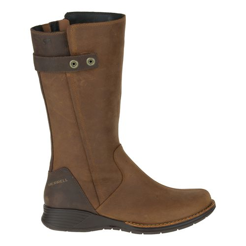 Womens Merrell Travvy Tall Waterproof Casual Shoe - Merrell Tan 7