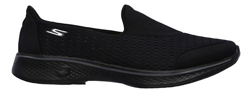 Womens Skechers GO Walk 4 - Pursuit Casual Shoe - Black 8.5
