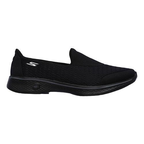 Womens Skechers GO Walk 4 - Pursuit Casual Shoe - Black/White 5