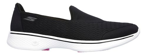 Womens Skechers GO Walk 4 - Pursuit Casual Shoe - Black/White 6.5