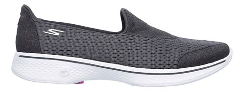 Womens Skechers GO Walk 4 - Pursuit Casual Shoe - Charcoal 6