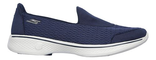 Womens Skechers GO Walk 4 - Pursuit Casual Shoe - Navy/Grey 10