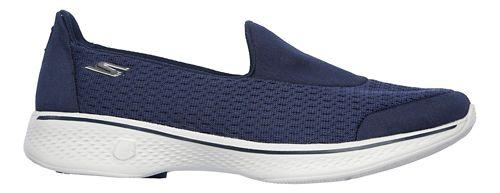 Womens Skechers GO Walk 4 - Pursuit Casual Shoe - Navy/Grey 5.5
