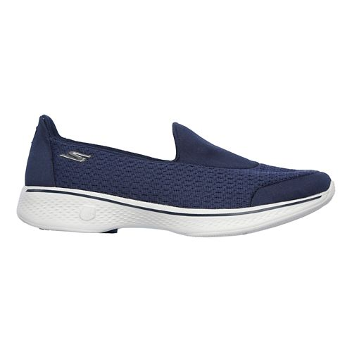 Womens Skechers GO Walk 4 - Pursuit Casual Shoe - Navy/Grey 7.5