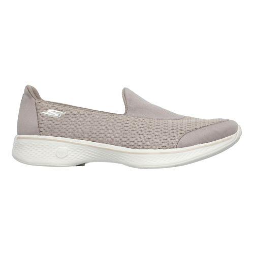 Womens Skechers GO Walk 4 - Pursuit Casual Shoe - Taupe 6.5