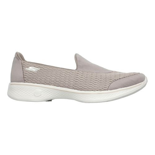 Womens Skechers GO Walk 4 - Pursuit Casual Shoe - Taupe 9.5