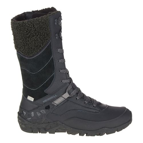Womens Merrell Aurora Tall Ice+ Waterproof Casual Shoe - Black 7.5