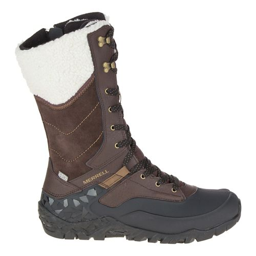 Womens Merrell Aurora Tall Ice+ Waterproof Casual Shoe - Espresso 10