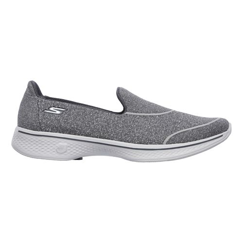 Womens Skechers GO Walk 4 - Super Sock 4 Casual Shoe - Charcoal 11