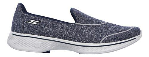 Womens Skechers GO Walk 4 - Super Sock 4 Casual Shoe - Navy 9
