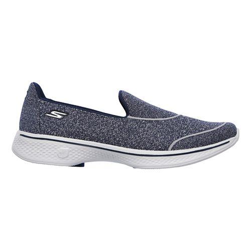 Womens Skechers GO Walk 4 - Super Sock 4 Casual Shoe - Black/White 9