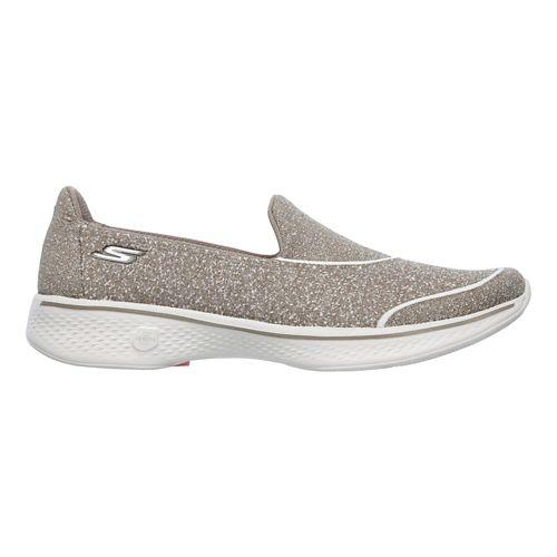 Womens Skechers GO Walk 4 - Super Sock 4 Casual Shoe - Taupe 10