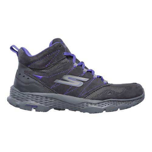 Womens Skechers GO Walk Outdoors Casual Shoe - Charcoal/Purple 7.5