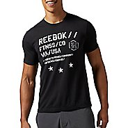 Mens Reebok Work Out Ready Supremium Tee Version A Short Sleeve Technical Tops