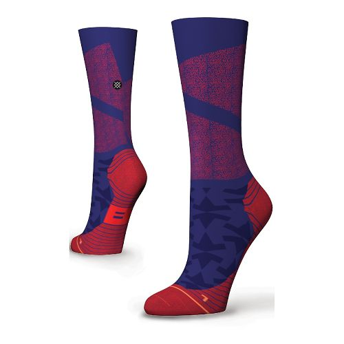 Womens Stance Fusion Run Taekuk Crew Socks - Blue S