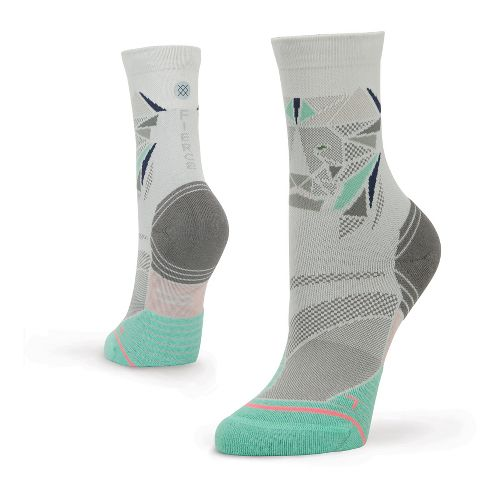 Womens Stance Fusion Run Fleshman Crew Socks - Grey M