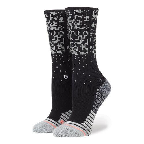 Womens Stance Fusion Run Rapido Crew Socks - Black S