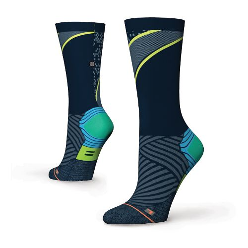 Womens Stance Fusion Run Popideau Crew Socks - Blue S