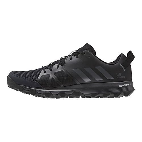 Mens adidas Kanadia 8 TR Trail Running Shoe - Black 10.5
