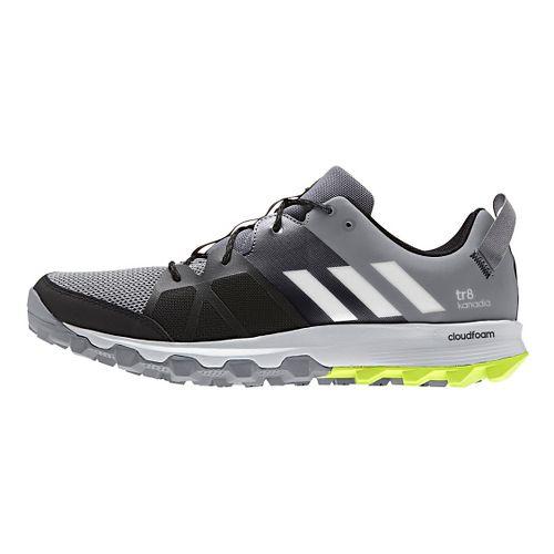 Mens adidas Kanadia 8 TR Trail Running Shoe - Grey/Yellow 13