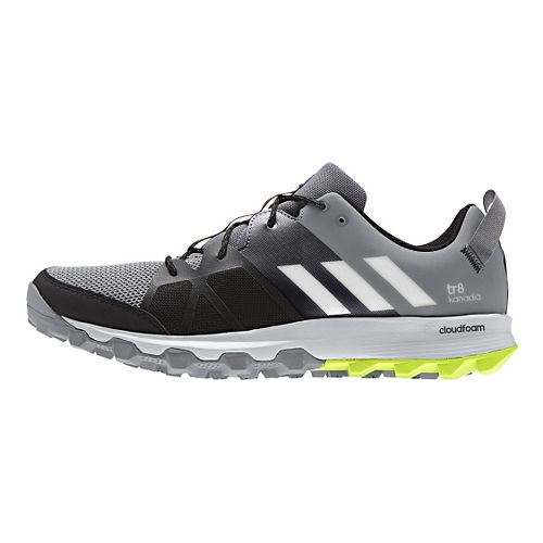 Mens adidas Kanadia 8 TR Trail Running Shoe - Grey/Yellow 9.5