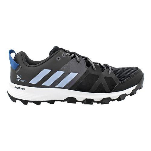 Mens adidas Kanadia 8 TR Trail Running Shoe - Black/Blue 10.5