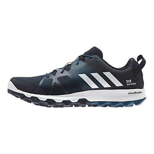 Mens adidas Kanadia 8 TR Trail Running Shoe - Navy/Steel 9.5