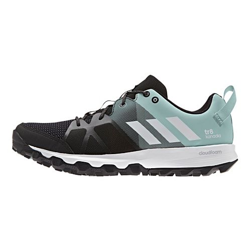 Womens adidas Kanadia 8 TR Trail Running Shoe - Black/Steel 9.5
