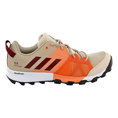 Womens adidas Kanadia 8 TR Trail Running Shoe - Tan/Orange 9.5