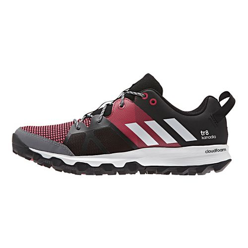 Womens adidas Kanadia 8 TR Trail Running Shoe - Black/White/Pink 7