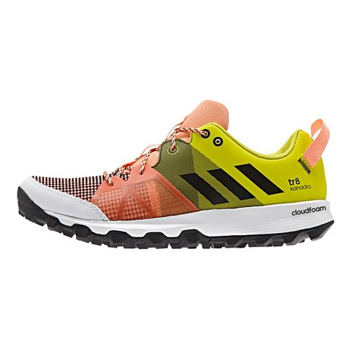 Womens adidas Kanadia 8 TR Trail Running Shoe - Sun Glow/Slime 9