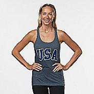 Womens R-Gear USA Graphic Sleeveless & Tank Technical Tops - Heather Charcoal XL