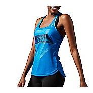 Womens Reebok Dance Mesh Graphic Sleeveless & Tank Technical Tops