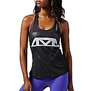 Womens Reebok Dance Mesh Graphic Sleeveless & Tank Technical Tops